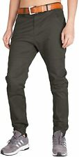 Italy Morn Mens Pants Green Size 34x31 Slim Fit Jogger Chinos Stretch $89 859
