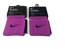 NIKE Dri-FIT Reveal Womens Pink Singlewide Wristbands - NEW Bundle Of Two Pair.
