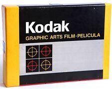 "Película Kodak Professional 4.75""x6.5"" kodalith Ortho tipo 3 2556-25 Hojas. 05/1989"