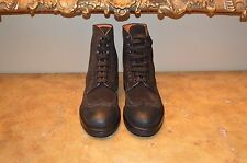 Santoni Brown Leather Mens Boots Size 10 (UK 9)