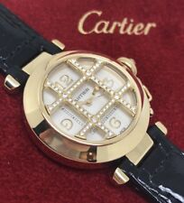 Ladies Solid 18ct Gold Automatic Cartier Pasha & Factory Diamond Grille [2399]