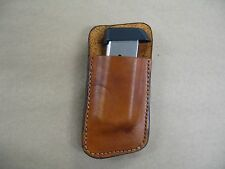 Walther PPK, PPKS 380 Leather Clip On OWB Belt Magazine Mag pouch CCW - TAN USA