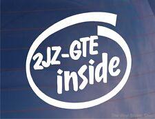 2JZ-GTE INSIDE Car/Van/Window/Bumper Sticker Ideal for Toyota Supra - LARGE