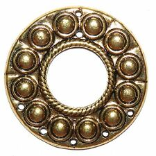 MX588 Antiqued Gold 50mm Round Link with 7-Holes Metal Alloy Component 20pc