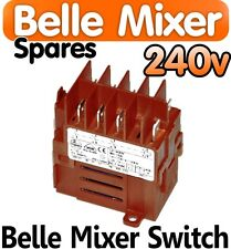 Belle Cement Concrete Mixer 240v ON OFF Switch Minimix 150 Spares Parts Electric