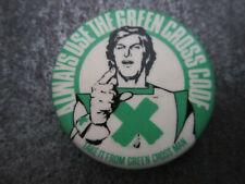 Green Cross Code Pin Badge Button (l6b)
