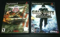 Playstation 2 Call of Duty Game Lot Seek & Destroy Black Label Army Manuals  -Z#
