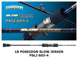 Evergreen 2018 Poseidon Slow Jerker PSLJ 603-4 jigging bait rod from Japan