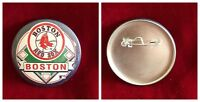 "Wincraft Vtg MLB AL East Boston Red Sox Baseball Pinback 2.25"" Button 76-08 Logo"