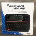 Password Keeper Safe Vault Model 595 Backlit LCD Built In- New Open Box