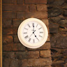 "Large 12"" Garden Round Face Cream Wall Clock With Battery Operated outside"