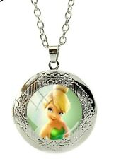 Tinkerbell necklace marbel locket Necklace with gift poch Birthday christmas 857