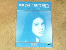 Jan Rhodes sheet music Mom (Can I Talk to You?) 1968 7 pages (VG+ shape)
