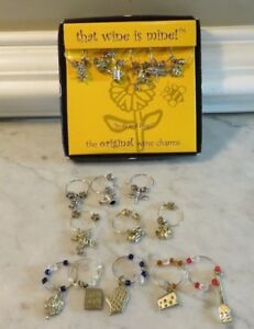 THAT WINE IS MINE Wine Glass MARKERS  Buds and Bugs + More - 17 total