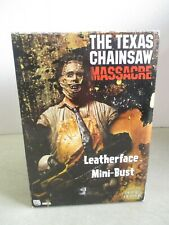 """REEL TOYS - NECA - THE TEXAS CHAINSAW MASSACRE LEATHERFACE MINI-BUST 7.5"""" IN BOX"""