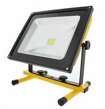 ABN LED Flood Light 50W Rechargeable Portable Worklight, 12V Adapter & Wall Plug