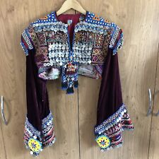Vintage Afghan Ceremonial Tribal Beaded Coin Top - Rare Style