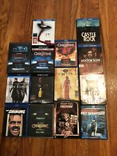 Stepen King 4k Blue Ray DVD Lot OOP Rare Special Edition HTF 18 Movies Horror