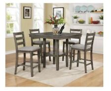 5 Piece Dining Table Set - Grey