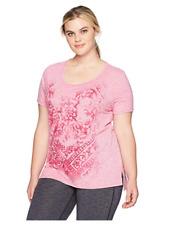 Just My Size Women's Size Plus Short Sleeve Graphic Tunic Top Shirt Deep Raz 2X