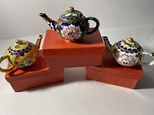 Lot of Decorative Miniature Tea Pots