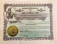 Banner Life Insurance Company > 1957 Brunswick Georgia stock certificate share