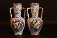 paire de vases en porclaine XIXème