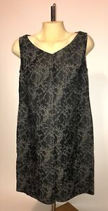 A PEA IN THE POD MATERNITY Black Grey Floral Sleeveless Formal Dress Small S