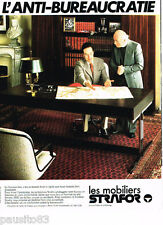 PUBLICITE ADVERTISING 085  1978  STRAFOR  mobilier de bureau
