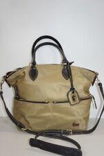 Dooney & bourke Light Brown satchel nylon with leather trim