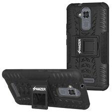 Amzer doble capa Híbrido Guerrero soporte funda para ASUS Zenfone 3 Max Zc520tl