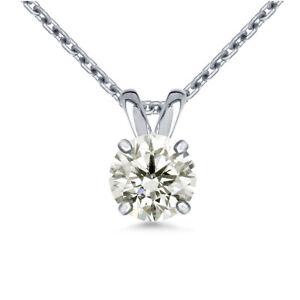 2.12+Ct Vvs1=Near White Round Moissanite Diamond Solitaire 925 Silver Pendant
