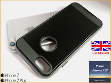 "iPhone 7 4.7"" – Stylish Protective Hard Armour Shockproof Brush Black Case Cover"