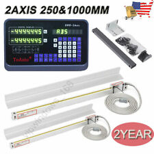 Toauto Linear Scale 10amp40 2 Axis Dro Kit Digital Readout For Lathe Bridgeport