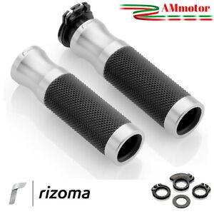 Manopole Rizoma Moto Yamaha FZ8 Coppia Silver Alluminio Argento