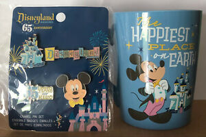 Disneyland Anniversary MUG AND PIN SET Happiest Place on Earth TARGET EXCLUSIVE