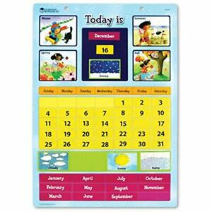 Magnetic Learning Wall Calendar Preschool Kids Educational Classroom Home Toys