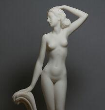 "Goddess APHRODITE Venus Nude Naked Female Figure Cast Marble Statue Sculpture12"""