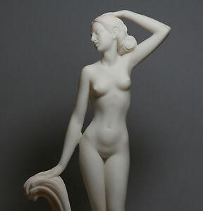 Goddess APHRODITE Venus Nude Female Figure Cast Marble Statue Sculpture 12inches