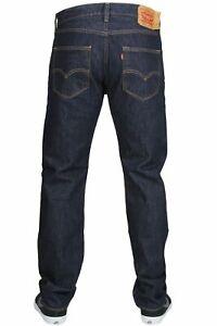 Levis 501 Original Fit Jeans Straight Leg Button Fly 100% Cotton Blue Black