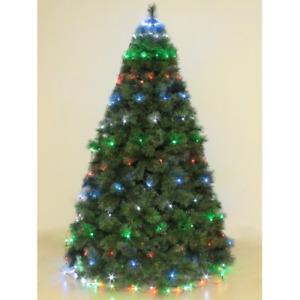Mantello 240 luci a led multicolore rgb per albero di Natale 2,4 mt con 8 giochi