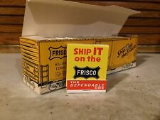 Matches Paper Train Box Car Ship It On The Frisco Matchbook NOS Vintage Old