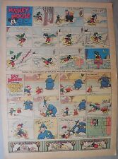 Mickey Mouse Sunday Page by Walt Disney from 3/7/1937 Tabloid Page Size
