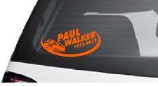 PAUL WALKER  Car Van Window Bumper Wall JDM Xbox Vinyl Decal Sticker orange