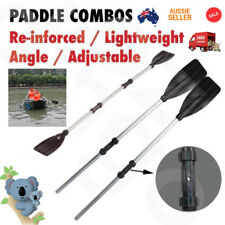 2x 125cm Aluminum Alloy Detachable Afloat Kayak Oars Paddles Boat Rafting Canoe