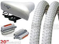 Sella M/Grappa + Pedali + N°2 Copertone 20 x 1.75 Bici Graziella - Epoca BIANCO
