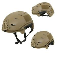 Emerson Airsoft Exf Replica Helmet Special Forces Style Coyote Rail Mount