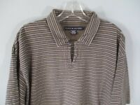 Tommy Hilfiger Men's Size Large 100% Cotton Striped Short Sleeve Polo Shirt