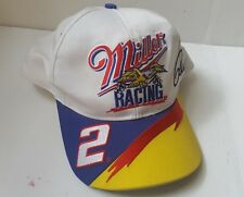 Vintage Miller Beer Racing Rusty Wallace Advertising Flame Snapback Hat Cap #2