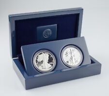 2012-S American Eagle West Point Two-Coin Silver Set w/ Box, CoA, and Case